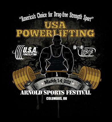 2012 Arnold Sports Festival Tshirt Winner | USA POWERLIFTING